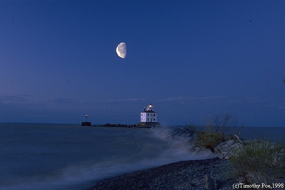 lake Erie with lighthouse